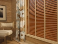 Floral Draperies with Hunter Douglas EverWood Wood Blinds