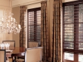 Patterned Draperies with Hunter Douglas Woven Wood Motorized Shades