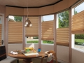 Cornice with Hunter Douglas Vignette Modern Roman Shades with Literise